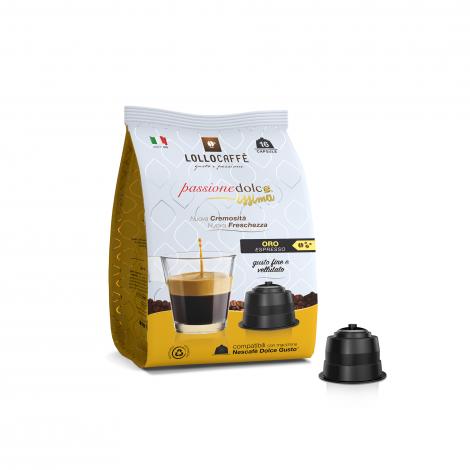 16 Capsule Dolce-Gusto Passione Dolce caffè Lollo Oro