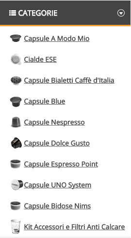 Outlet Caffè Catalogo Verticale